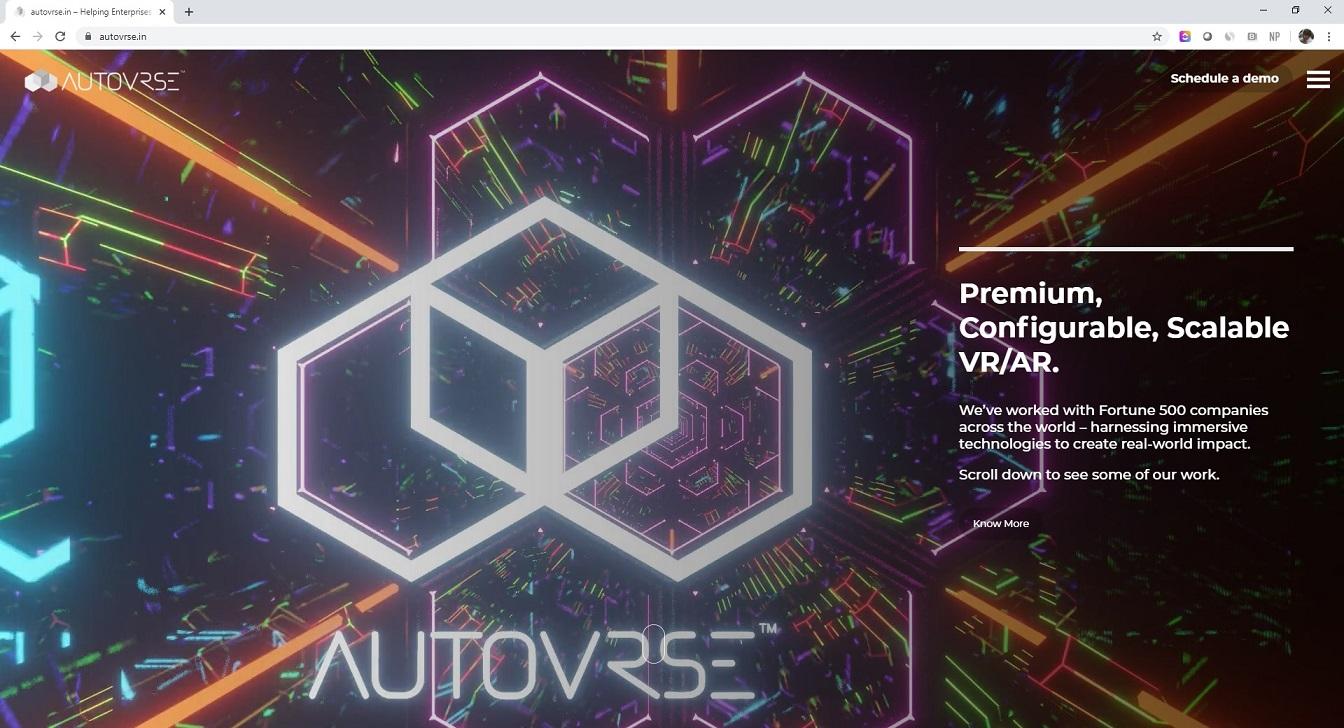 AutoVRse Futuristic Logo Banner